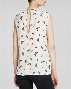 bug print blouse equipment blouse kyle sleeveless complex insect print silk