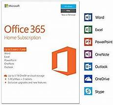 microsoft office 365 home 5 devices 1 year pc mac