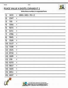 place values worksheet for grade 3 5467 math worksheets place value 3rd grade