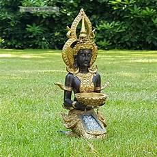 Thai Buddha Deko Figur Teelichthalter Budda Skulptur Feng