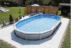Pool Einbauen Ohne Beton - stahlwandbecken mauritius rund und oval