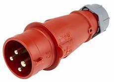 4 poliger stecker 252 mennekes 252 cee stecker rot 4 polig 400 v