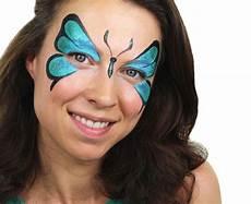 Fasnacht Schmetterling Schminken Blau Einfach Makeup