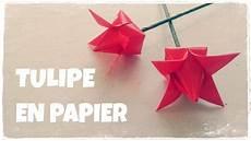origami facile comment faire une tulipe en papier