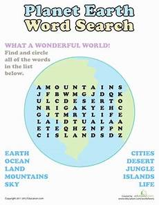 planet earth worksheets for kindergarten 14458 word search planet earth worksheet education