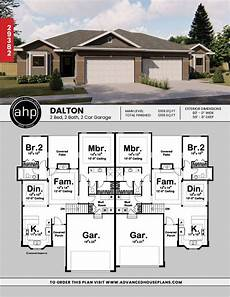 multi family house plans duplex 1 story multi family traditional house plan dalton