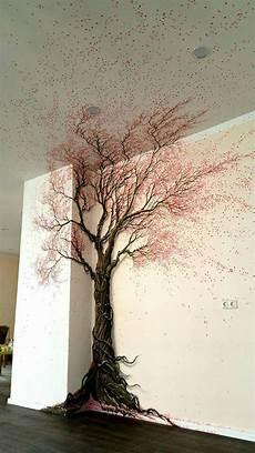 Baum An Die Wand Gemalt In 2019 Wandkunst Schlafzimmer