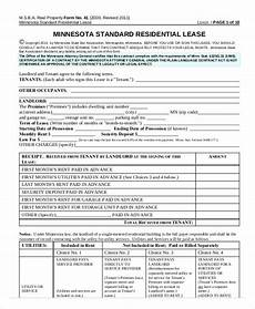 Rent Deposit Mn by 18 Printable Residential Lease Agreements Word Pdf