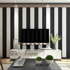 Papier Peint 224 Rayures Noir Blanc 0 53x10m Non Tiss 233