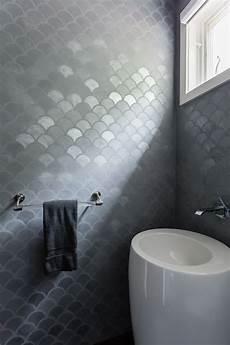 bathroom tile feature ideas caroline lizarraga venitian plaster bathroom feature wall fish scale tile grey feature wall