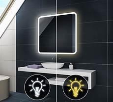 Badspiegel Mit Led Beleuchtung Wandspiegel L59 Mit Touch