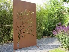 Garten Im Quadrat Moderne Sichtschutz Wand Quot Weide