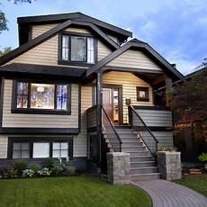 dark brown exterior house 2 975 dark trim vancouver home design photos concrete art black