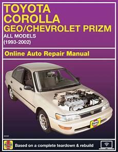 online auto repair manual 1996 geo prizm engine control 1996 geo prizm haynes online repair manual select access ebay
