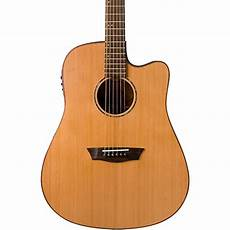 wood acoustic guitars washburn wd160swce solid wood acoustic electric guitar