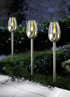 solar leuchten solarleuchten toulon 3er set gartenbeleuchtung