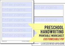 preschool handwriting worksheet free printable