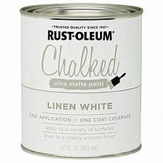 buy the rust oleum 285140 chalked ultra matte paint linen white 30 oz hardware world
