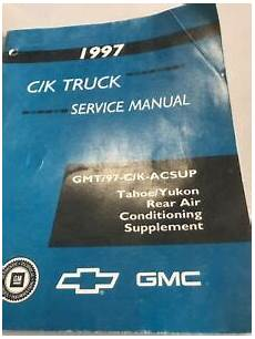 free car manuals to download 1997 gmc yukon spare parts catalogs 1997 chevy gmc c k tahoe yukon truck rear air conditioning supplement manual oem ebay