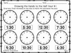 time worksheets hour and half hour 2913 telling time worksheets to the hour and half hour by annand