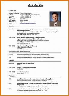 8 sle of curriculum vitae for application pdf edu techation resume format