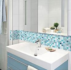 Bathroom Shop Market Place by Beaustile Mosaic 3d Wall Stickers 4 Sheets Home Decor Blue