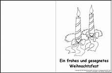 Weihnachten Malvorlagen Kostenlos Text Weihnachtskarte Zum Ausmalen 1 Medienwerkstatt Wissen
