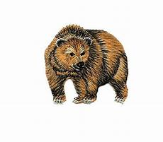 applique iron on grizzly animals embroidered iron on