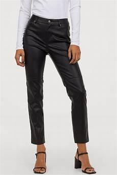 faux leather black h m ca
