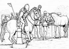kleurplaat paard springen sport malvorlagen