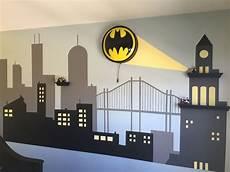 gotham city batman bedroom diy surprise for my son my diy projects batman bedroom