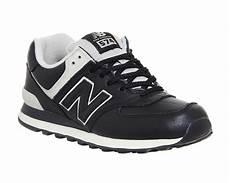 mens new balance 574 black powder trainers shoes ebay