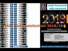 Aldi S 252 D Feuerwerks Prospekt Bestellschein 2018 19