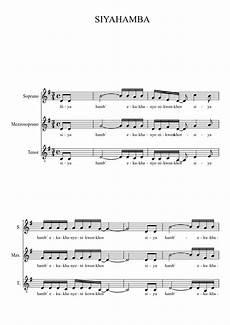 siyahamba sheet music download free in pdf or midi