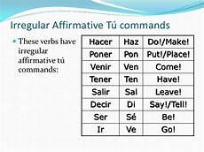 informal commands