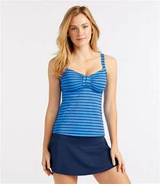 l l bean mix and match swimwear tankini top stripe