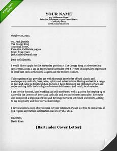 bartender cover letter resume genius