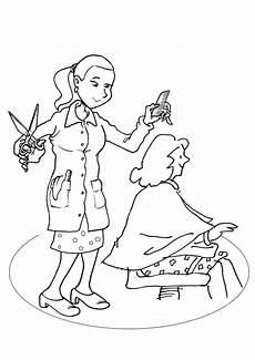 coloring pages of peoples hair 17841 free hairdresser colouring page activity sheets colouring pages activity
