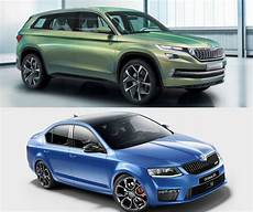 confirmed skoda kodiaq suv octavia rs and 2 other models