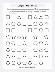 complete the pattern worksheets 4th grade 468 complete shape patterns printable grade 3 math worksheet