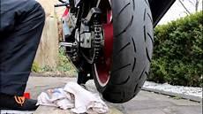 motorrad kette reinigen motorrad kette reinigen sauber machen fetten