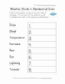 weather abc order worksheets 14643 weather words in alphabetical order worksheet for 1st 2nd grade lesson planet