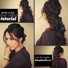 diy easy curls half up half down hairstyle tutorial medium hair hair