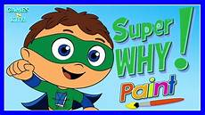 super why paint children s color painting games super why coloring book app for kids youtube