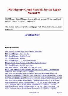 car repair manuals online free 1994 mercury grand marquis parking system 1995 mercury grand marquis service repair manual 95 by hui zhang issuu