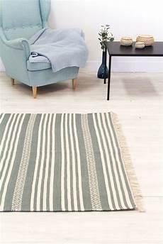 Teppich Grau 140x200 - teppich 140 x 200 cm baumwollteppich ystad grau