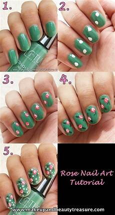 makeup and beauty treasure rose nail art tutorial