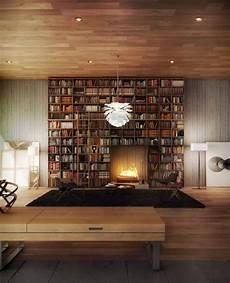 Eigene Bibliothek Zu Hause - eingebauter kamin ideen modernes haus bibliothek shelves