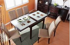 dining table with frosted checkered glass extension