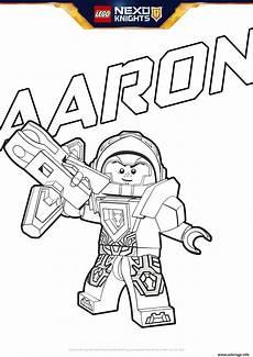 coloriage lego nexo knights aaron dessin
